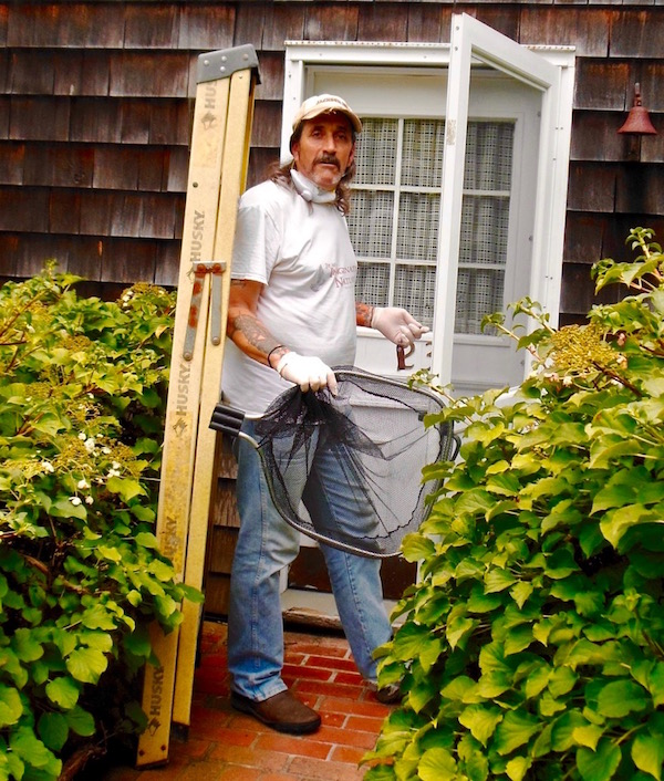 Dell Cullum goes to work in East Hampton.
