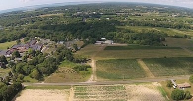 A drone shot from Southold Town's new affordable housing video.