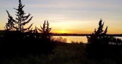 Reeves Bay sunset, Tuesday