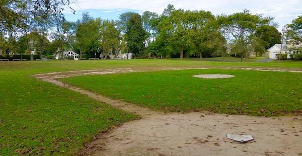 The New Suffolk School ball field.