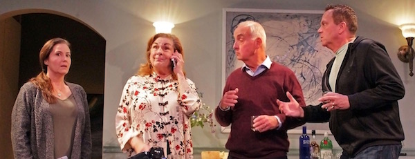 "Carolann Dipirro, Diana Marbury, Terrance Fiore and Edward A. Brennan in HTC's new production of ""Clever Little Lies."""