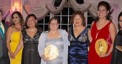 Award winners at SEPA Mujer's gala Thursday evening.