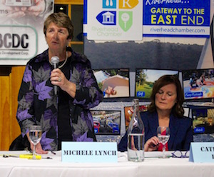 Town Board candidates Michele Lynch and Catherine Kent.
