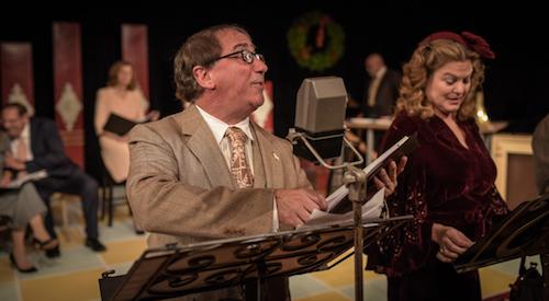 "Richard Gardini and Gerri Wilson in Center Stage's production of ""A Christmas Carol""     Dane Dupuis photo"
