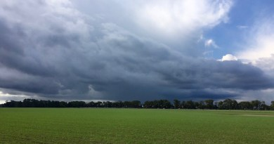 A storm brews over the Kujawski potato farm