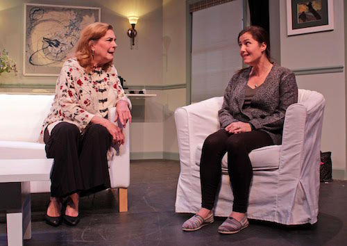 "Diana Marbury and Carolann Dipirro in HTC's new production of ""Clever Little Lies."""