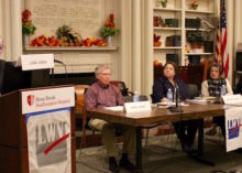 "Panelists at the League of Women Voters of the Hamptons' ""End of Life Choices & Decisions"" forum Nov. 13."