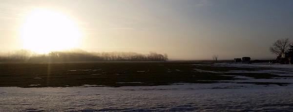 Snow fog, Jamesport