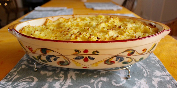 A shepherd's pie will chase the winter blues away.