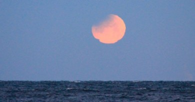 Supermoon melt, 6:50 a.m. Jan 31, Cutchogue.