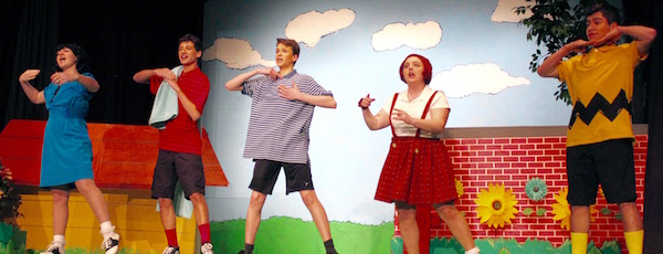 "The cast of NFCT's ""You're a Good Man, Charlie Brown."""