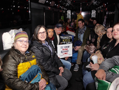 Forty marchers, mostly from the North Fork, on board a bus bound for Washington D.C., which departed from the Target parking lot in Riverhead at 5 a.m.