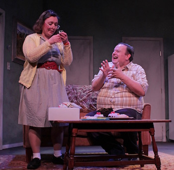 Jessica Howard as Sheila and Scott Hofer as Norman   |  Tom Kochie photo for HTC