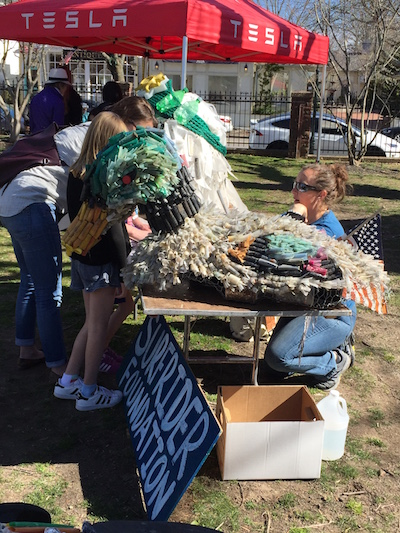 """The Surfrider Foundation's shotgun shell duck at Southampton Arts Center's """"Earth Days"""""""