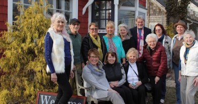 Members of the Old Town Arts & Crafts Guild at the opening exhibition of their 70th season in March.