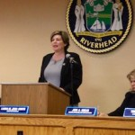 Members of the Riverhead Town Board at Laura Jens-Smith's first State of the Town address.