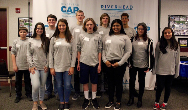 Youth Coalition members Max Solarz, Matt LaCombe, Aaron Walker, Kenny Rothwell, Cameron Rothwell, Imani Thomas, Nina Geraci, Emily Amodei, Noah Dufour, Leslie Collazos Robles and Paola Sanchez at the Meet & Greet.