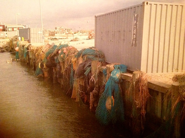 Julie Lofstad's photo of ruined nets after Superstorm Sandy at the Shinnecock commercial fishing dock.