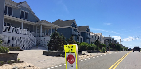 Dune Road in Westhampton is one of the areas of Southampton Township with a high number of properties at risk from chronic inundation due to sea level rise.