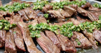 miso marinated skirt steak