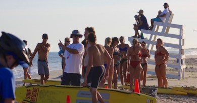 Thursday night at the lifeguard races, Hampton Bays