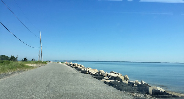 Gerard Drive at the mouth of the harbor has been facing severe erosion during winter storms