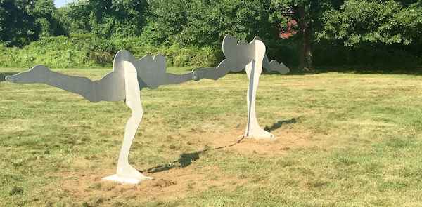 "The Bill King sculpture ""Nureyev & Fontaine,"" donated last year by Laura Cutler to the Town of East Hampton, has been placed on the grounds of Town Hall at 159 Pantigo Road. King, a distinguished and prolific artist, was an East Hampton resident for 40 years."
