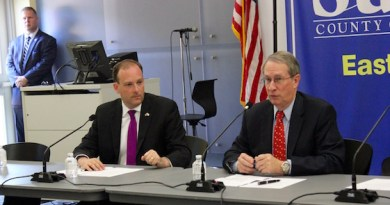 Congressmen Lee Zeldin and Bob Goodlatte, Chairman of the House Judiciary Committee, at the Sept. 17 forum.