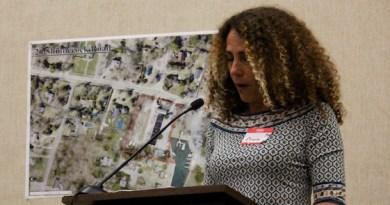 OLA Executive Director Minerva Perez speaks before the Southampton Town Board