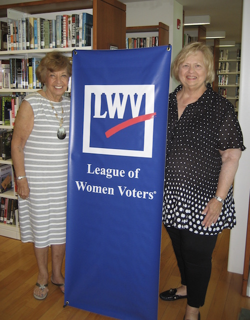 League of Women Voters of the Hamptons co-presidents Estelle Gellman and Susan Wilson