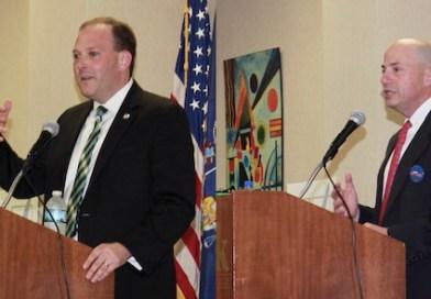 Left: Lee Zeldin. Right: Perry Gershon