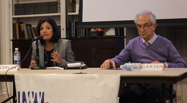 Drs. Martha Carlin and Paul Carlin at the Mental Health Matters Forum at Southampton Hospital's Parrish Hall Nov. 19.
