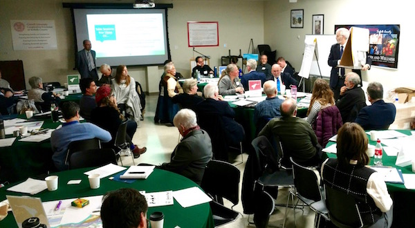"""Attendees at the """"Envision Plum Island"""" workshop Nov. 16."""