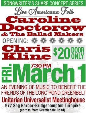 Songwriter's Share with Caroline Doctorow & Chris Kline at UUCSF
