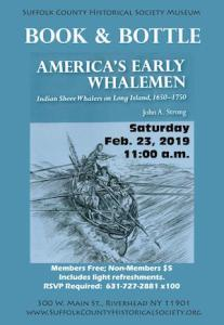 "Book & Bottle: ""America's Early Whalemen"" with John Strong at Suffolk County Historical Society"