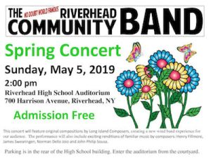 Riverhead Community Band Spring Concert of Local Composers at Riverhead High School