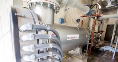 The reactor used in AOP treatment to remove 1,4-dioxane from drinking water at the Authority's Commercial Boulevard pump station in Central Islip. | SCWA photo