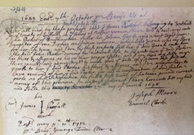 An early contract for the sale of an enslaved woman named Sarah in Southold.