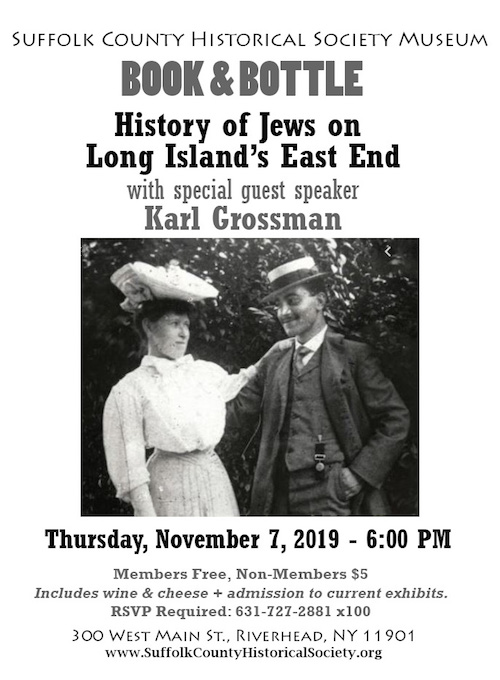 """Karl Grossman discusses """"History of Jews on Long Island's East End"""" at Southampton Historical Society"""