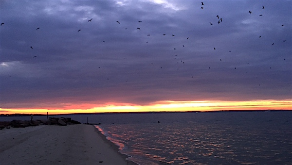 New Suffolk Sunrise over Peconic Bay