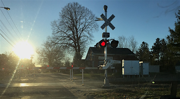 At the Depot Lane crossing gate, Cutchogue