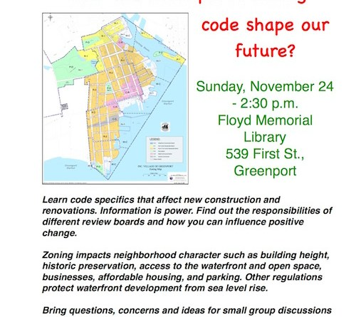 Greenport Zoning Forum 11-24-19