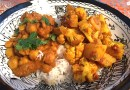 Aloo Gobi, Chickpeas Braised with Coconut Milk and Cilantro