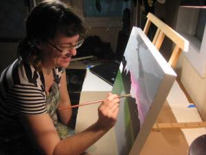 Painting Trees with Carly Haffner at Guild Hall