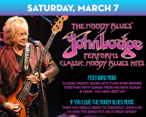 John Lodge of The Moody Blues plays The Suffolk Theater