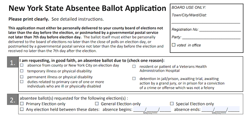 New York Absentee Ballot
