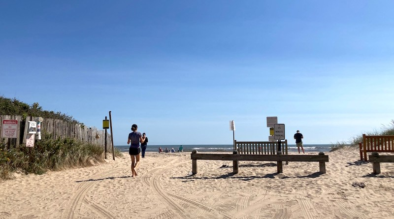 The end of Beach Lane in Wainscott, where the cable from the South Fork Wind Farm is slated to land.