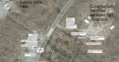 The proposed battery storage site on Route 25 in Greenport.