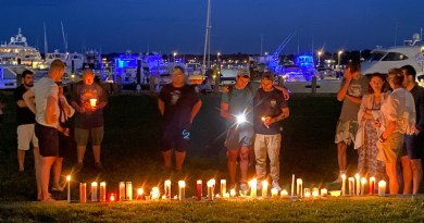 Greenport vigil for victims of fentanyl-laced cocaine Sunday evening.