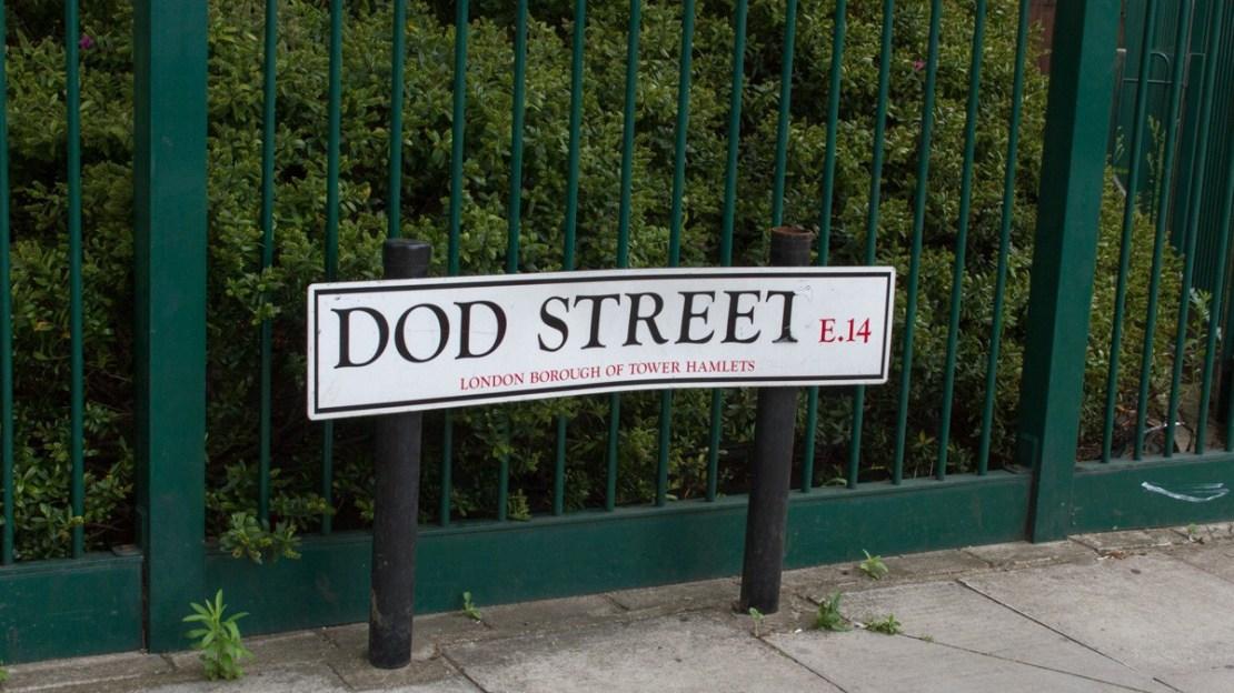Photo of Dod Street street sign